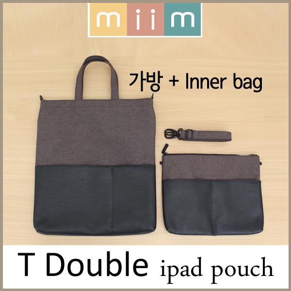 [ miim ] T-Double/T-더블 프리미엄 노트북가방/2컬러 2톤 디자인