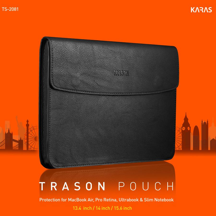 인조가죽 노트북 슬리브 파우치 TS-2081 블랙