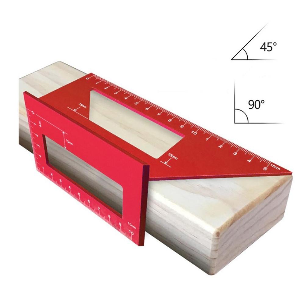 미스터죠 알루미늄 목공용 45도 90도 연귀자 각도자 직각자(L-HT45)
