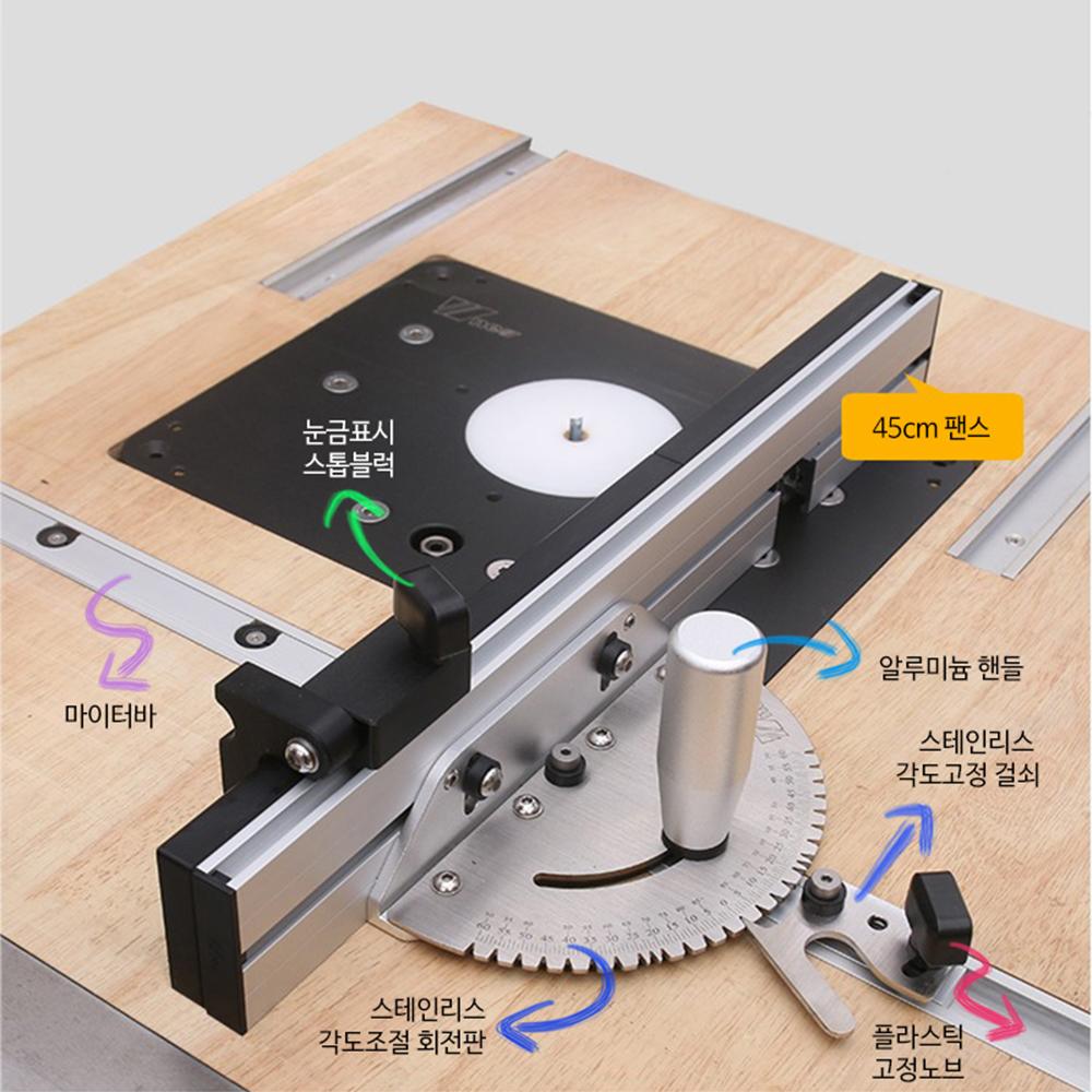 미스터죠 목공용 마이터게이지 박스조인트팬스 테이블쏘 라우터테이블등에 사용 (MR-MG03)